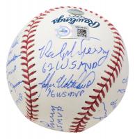 Yankees OML Baseball Team-Signed by (11) with Derek Jeter, John Wetteland, Don Larsen, Hideki Matsui, Mariano Rivera With Multiple Inscriptions (MLB Hologram & Steiner Hologram) at PristineAuction.com