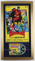 """""""Adventures of Batman"""" 15x26 Custom Framed Poster Display with 1960's 8mm Film at PristineAuction.com"""