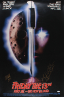 "Kane Hodder & Lar Park Lincoln Signed ""Friday the 13th Part VII The New Blood"" 27x40 Poster Inscribed ""Jason"" (JSA COA) (See Description) at PristineAuction.com"