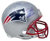 "Tom Brady & Randy Moss Signed Patriots Full-Size Helmet Inscribed ""2007 NFL Rec 23 TDs"" (Beckett COA & TriStar Hologram) at PristineAuction.com"