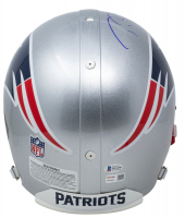 """Tom Brady & Randy Moss Signed Patriots Full-Size Authentic On-Field Helmet Inscribed """"2007 NFL Rec 23 TDs"""" (Beckett COA & TriStar Hologram) at PristineAuction.com"""