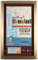 "Walt Disneyland ""Opening Dedication Ceremony"" 15x24 Custom Framed Print Display with Vintage Ticket Booklet & Souvenir 1960 Figure Set at PristineAuction.com"
