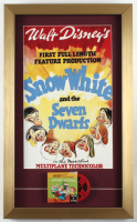 """Vintage """"Snow White and the Seven Dwarfs"""" 14x23 Custom Framed Print Display With 8mm Film Reel at PristineAuction.com"""