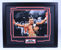 Mike Tyson Signed 18x22 Custom Framed Photo (Fiterman Hologram) at PristineAuction.com