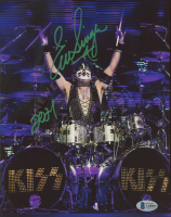 """Eric Singer Signed 8x10 Photo Inscribed """"2021"""" (Beckett COA) at PristineAuction.com"""