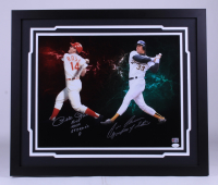 """Pete Rose & Jose Canseco Signed 22x26 Custom Framed Photo Display Inscribed """"Hit's 4,256 Steroid's 0"""" & """"Godfather of Steroids"""" (JSA COA & Rose Hologram) at PristineAuction.com"""
