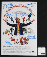 Willy Wonka & The Chocolate Factory 11x17 Photo Cast-Signed by (6) with Denise Nickerson, Julie Dawn Cole, Peter Ostrum, Paris Themmen & Michael Bollner (PSA COA & JSA Hologram) at PristineAuction.com