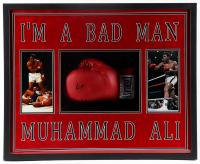 Muhammad Ali Signed 31.5x25.5x4 Custom Framed Boxing Glove Shadowbox Display (PSA LOA) at PristineAuction.com
