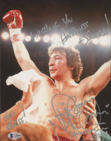 """Ray """"Boom Boom"""" Mancini Signed 8x10 Photo Inscribed """"Wishing You Happiness & Success!"""", """"God Bless!"""" & """"5/2/21"""" (Beckett COA) at PristineAuction.com"""