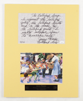 """Jerry Maren Signed LE """"The Wizard of Oz"""" 16x20 Custom Matted Cut Display with Inscription (JSA COA) at PristineAuction.com"""