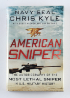 "Chris Kyle & Jim DeFelice Signed ""American Sniper"" Hardcover Book (Becket LOA) (See Description) at PristineAuction.com"