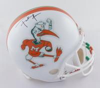 Frank Gore Signed Miami Hurricanes Full-Size Throwback Helmet (JSA COA) (See Description) at PristineAuction.com