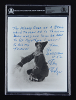 """Ray Bolger Signed """"The Wizard of Oz"""" 8x10 Photo With Extensive Inscription (BGS Encapsulated) at PristineAuction.com"""