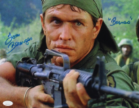 "Tom Berenger Signed ""Platoon"" 11x14 Photo Inscribed ""Barnes"" (JSA COA) at PristineAuction.com"