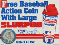"""Dale Murphy Signed Vintage 1984 Slurpee Sign Inscribed """"NL MVP 82, 83"""" (JSA COA) at PristineAuction.com"""