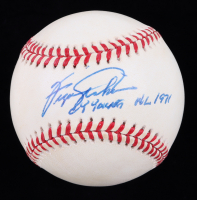 """Fergie Jenkins Signed OML Baseball Inscribed """"Cy Young NL 1971"""" (JSA COA) (See Description) at PristineAuction.com"""