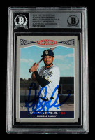 Fernando Tatis Jr. Signed 2019 Topps Heritage Rookie Performers #RP12 RC (BGS Encapsulated) at PristineAuction.com