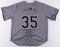 Frank Thomas Signed Career Highlight Stat Jersey (Beckett Hologram) at PristineAuction.com
