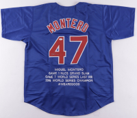 Miguel Montero Signed World Series Highlight Stat Jersey (JSA COA) at PristineAuction.com