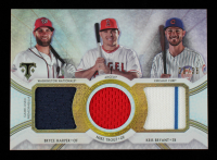 Bryce Harper / Kris Bryant / Mike Trout 2018 Topps Triple Threads Relic Combos #RCCBMK #20/36 at PristineAuction.com