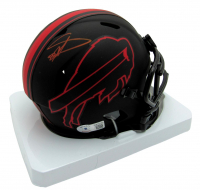 Stefon Diggs Signed Bills Eclipse Alternate Speed Mini-Helmet (Beckett Hologram) at PristineAuction.com