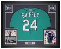 Ken Griffey Jr. Signed 35x43 Custom Framed Jersey Display (Beckett COA) at PristineAuction.com
