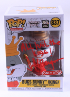 """Jeff Bergman Signed """"Looney Tunes"""" #837 Bugs Bunny (King) Funko Pop! Vinyl Figure Inscribed """"All hail the King!"""" (PSA COA) at PristineAuction.com"""