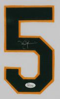 Mark McGwire Signed Athletics 35x43 Custom Framed Jersey Display (JSA COA) at PristineAuction.com