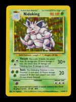 Nidoking 1999 Pokemon Base Unlimited #11 HOLO at PristineAuction.com