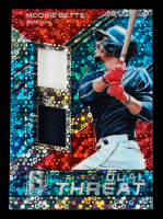 Mookie Betts 2019 Panini Spectra Dual Threat Materials Neon Blue #9 #26/49 at PristineAuction.com