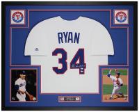 Nolan Ryan Signed 35x43 Custom Framed Jersey (Fanatics Hologram & MLB Hologram) at PristineAuction.com