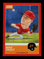 Mike Trout 2019 Score Red #13 #36/99 at PristineAuction.com