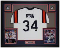 Nolan Ryan Signed 35x43 Custom Framed Jersey (AIV COA & Ryan Hologram) at PristineAuction.com