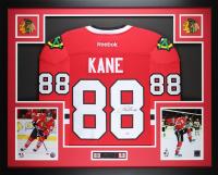 Patrick Kane Signed Blackhawks 35x43 Custom Framed Jersey (PSA COA) at PristineAuction.com