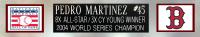 Pedro Martinez Signed Red Sox 35x43 Custom Framed Jersey (JSA COA) at PristineAuction.com