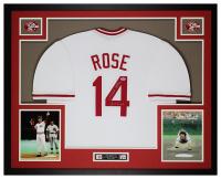 Pete Rose Signed 35x43 Custom Framed Jersey (PSA COA) at PristineAuction.com