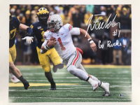 """Justin Fields Signed Ohio State Buckeyes 16x20 Photo Inscribed """"Go Buck!"""" (Beckett COA) at PristineAuction.com"""