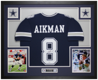 Troy Aikman Signed 35x43 Custom Framed Jersey (Beckett COA) at PristineAuction.com