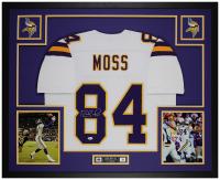 Randy Moss Signed 35x43 Custom Framed Jersey (Beckett COA) at PristineAuction.com
