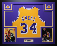 Shaquille O'Neal Signed 35x43 Custom Framed Jersey Display (JSA COA) at PristineAuction.com