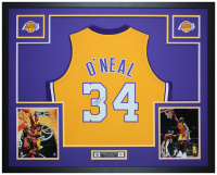 Shaquille O'Neal Signed 35x43 Custom Framed Jersey Display (Beckett COA) at PristineAuction.com