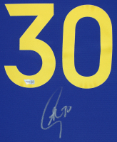 Stephen Curry Signed Warriors 35x43 Custom Framed Jersey Display (Fanatics Hologram) at PristineAuction.com