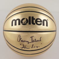 """Jerry West Signed Gold Basketball Inscribed """"The Logo"""" (Beckett COA) at PristineAuction.com"""