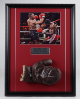 Mike Tyson Signed 17x22 Custom Framed 1950's Jack Dempsey Everlast Boxing Glove Display (PSA COA) (See Description) at PristineAuction.com