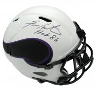 "Fran Tarkenton Signed Vikings Full-Size Lunar Eclipse Alternate Speed Helmet Inscribed ""HOF '86"" (Beckett COA) at PristineAuction.com"