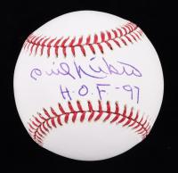 "Phil Niekro Signed OL Baseball Inscribed ""H.O.F. - 97"" (JSA COA) (See Description) at PristineAuction.com"