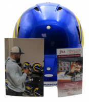 """Aaron Donald Signed Rams Full-Size Authentic On-Field Speed Helmet Inscribed """"3X DPOY"""" & """"17, 18, 20"""" (JSA COA) at PristineAuction.com"""