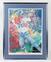 "Roger Staubach & LeRoy Neiman Signed LE ""America's Quarterback"" Cowboys 26x34 Custom Framed Lithograph Display (JSA LOA) (See Description) at PristineAuction.com"