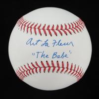 "Art LaFleur Signed OML Baseball Inscribed ""The Babe"" (AutographCOA Hologram) at PristineAuction.com"