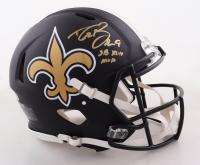 "Drew Brees Signed Saints Full-Size Authentic On-field Eclipse Alternate Speed Helmet Inscribed ""SB XLIV MVP"" (Beckett COA) at PristineAuction.com"